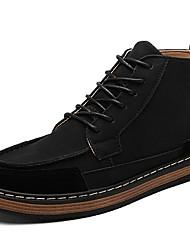 billige -Herre Fashion Boots PU Forår / Efterår Støvler Støvletter Sort / Grå / Gul