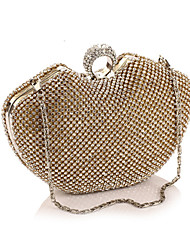 cheap -Women Bags Polyester Evening Bag Crystal Detailing for Wedding Event/Party All Seasons Gold Black Silver