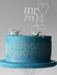 Недорогие -Украшения для торта Классическая пара пластик Свадьба Для вечеринок с 1 Пластмассовая сумка