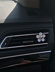 Недорогие -автомобильный воздухозаборник решетка духи белый ромашка один пластиковый материал автомобильный очиститель воздуха