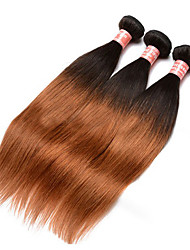 Ombre Hair Weaves Mongolian Texture Straight 12 Months Three-piece Suit hair weaves