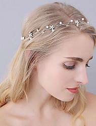 cheap -Imitation Pearl Alloy Headbands Head Chain Headpiece Elegant Style