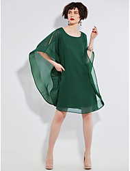 Women's Casual/Daily Lace Dress,Solid V Neck Knee-length 3/4 Length Sleeves Polyester Spring Fall High Rise Inelastic Medium
