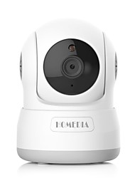 homedia® 720p 1.0mp appareil photo sans fil wifi détection de mouvement panoramique / inclinaison moniteur de vision nocturne audio à double sens