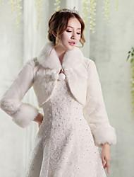 economico -la cerimonia nuziale della pelliccia faux / l'involucro delle donne di sera alza le spalle lo stile elegante