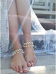Per donna Cavigliera/Bracciali Perle finte Diamanti d'imitazione Di tendenza Personalizzato goccia Gioielli PerQuotidiano Casual