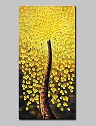 billige -Hang-Painted Oliemaleri Hånd malede - Abstrakt Abstrakt Moderne Lærred