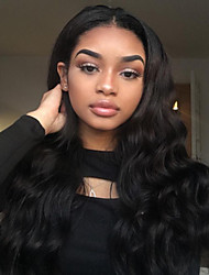 cheap -Remy Human Hair Full Lace / Lace Front Wig / Glueless Lace Front Wig Malaysian Hair Body Wave 180% Density 100% Hand Tied Women's Long Human Hair Lace Wig