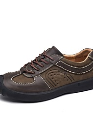 Men's Shoes Real Leather Cowhide Nappa Leather Fall Winter Driving Shoes Formal Shoes Comfort Sneakers Lace-up For Casual Office & Career