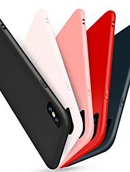 economico -Per iPhone X Custodie cover Effetto ghiaccio Custodia posteriore Custodia Tinta unica Morbido Silicone per Apple iPhone X