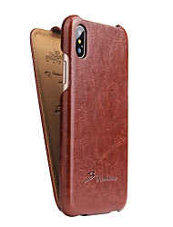 cheap -For iPhone X Case Cover Flip Full Body Case Solid Color Hard PU Leather for Apple iPhone X