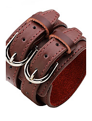 Men's Women's Leather Bracelet Personalized Rock Leather Alloy Round Jewelry For Casual Stage