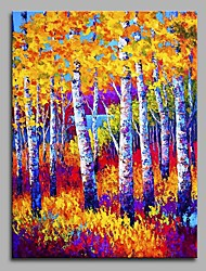 Hand-Painted Landscape Vertical,Artistic Nature Inspired Rustic Modern/Contemporary Office/Business Christmas New Year's One Panel Canvas