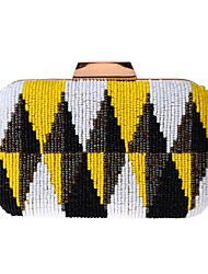 Women Bags All Seasons Polyester Evening Bag Beading for Event/Party Blue Orange Yellow