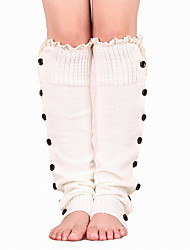 cheap -Women's knee high Cotton sock Blend with blue white black brown gray coffe