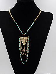 Mulheres Colares com Pendentes colares em camadas Forma Geométrica Turquesa Liga Básico Personalizado Multi Camadas Jóias Para Festa de