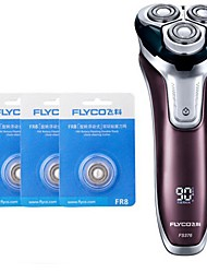 cheap -FLYCO FS376 Electric Shaver Razor Three Spare Heads 100240V Washable Quick Charge
