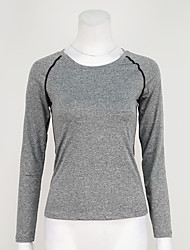 preiswerte -Laufshirt T-shirt Oberteile für Yoga Übung & Fitness Laufen Modal Polyester Schlank Grau Purpur Fuchsia Leicht Grün S M L XL XXL