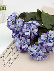 abordables -1 Pieza 1 Rama Poliéster Plantas Flor de Mesa Flores Artificiales
