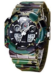 Недорогие -Муж. Детские Спортивные часы Модные часы Наручные часы Кварцевый LCD Календарь Защита от влаги С двумя часовыми поясами Хронометр PU