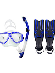 cheap -Snorkeling Packages Diving Fins Diving Masks Diving Packages Snorkels Waterproof Diving / Snorkeling Swimming PVC silicone Red Yellow Blue