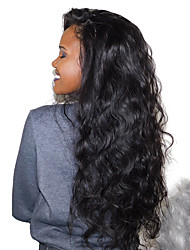 cheap -Remy Human Hair Full Lace Lace Front Wig Brazilian Hair Body Wave 180% Density 100% Hand Tied Long Women's Human Hair Lace Wig