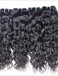 cheap -Virgin Brazilian Bundle Hair Wavy Hair Extensions 3 Pieces Black