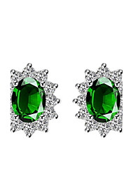 cheap -Women's Stud Earrings Crystal Natural Fashion Crystal Oval Jewelry Gift Office & Career Costume Jewelry