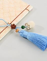 saco / telefone / chaveiro charme abacus cristal / estilo de strass borla brinquedo cartoon cristal poliéster nylon estilo chinês 12cm