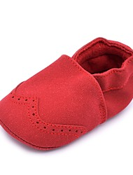 cheap -Girls' Shoes Suede Spring & Summer Comfort / First Walkers / Crib Shoes Flats Gore for Red / Pink / Light Blue