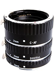 Extcm Auto Focus Metal Macro Extension Tube Set for Canon EOS EF EF-S SLR Cameras