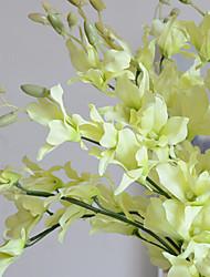 Недорогие -5 филиал шелковый настольный цветок искусственные цветы домашнее украшение