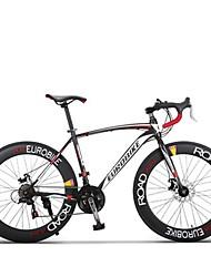 Cruiser Bike Cycling 21 Speed 26 Inch/700CC SHIMANO TX30 Disc Brake Non-Damping Steel Frame Carbon Anti-slip Aluminum Alloy Carbon Steel
