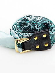 Women's Leather Bracelet Bohemian Adjustable Leather Polyester Flower Jewelry For Stage Going out