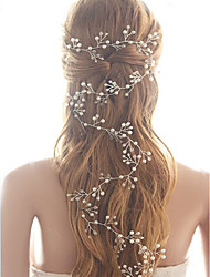 cheap -Crystal Imitation Pearl Headbands Head Chain Hair Tool Headpiece