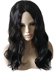 cheap -Synthetic Wig / Cosplay & Costume Wigs Wavy / Natural Wave Asymmetrical Haircut Synthetic Hair Natural Hairline / African American Wig Black Wig Women's Medium Length / Long Capless