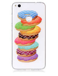 economico -cassa per huawei p8 lite (2017) p10 lite cassa del telefono tpu materiale donuts modello cassa del telefono hd p9 lite