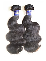 Недорогие -верхний сорт лучший естественный необработанный перуанский виргинский волос волна тела 2bundles 200 г цвет натуральных человеческих волос