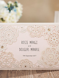 cheap -Wrap & Pocket Wedding Invitations 20-Invitation Cards Classic Style Embossed Paper