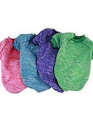 preiswerte -Hund Pullover Overall Hundekleidung Solide Fuchsia Rot Grün Blau Rosa Baumwolle Kostüm Für Haustiere Lässig / Alltäglich