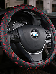 cheap -Automotive Steering Wheel Covers(Leather)For universal All years