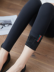 Women's Thick Fleece Lined Legging,Striped