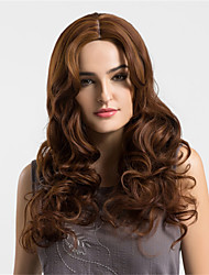 cheap -Women Synthetic Wig Capless Long Wavy Medium Auburn Ombre Hair Middle Part Natural Wigs Costume Wigss