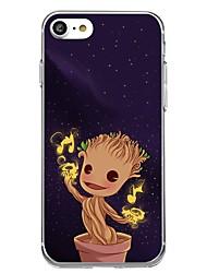 Назначение iPhone X iPhone 8 Чехлы панели Прозрачный С узором Задняя крышка Кейс для Мультипликация дерево Мягкий Термопластик для Apple