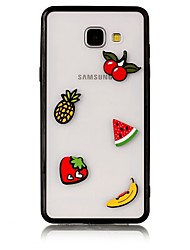 Недорогие -Кейс для Назначение SSamsung Galaxy A5(2017) A3(2017) Прозрачный Задняя крышка Продукты питания 3D в мультяшном стиле Твердый Акриловое