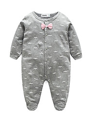 Baby Print One-Pieces,100%Cotton Spring/Fall Long Sleeve