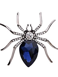 cheap -Women's Brooches Rhinestone Personalized Animal Design Rhinestone Alloy Spiders Silver Jewelry For Party Stage