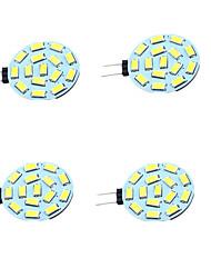Недорогие -4шт 1W 200lm G4 Двухштырьковые LED лампы T 15 Светодиодные бусины SMD 5730 Декоративная Тёплый белый Холодный белый 12-24V