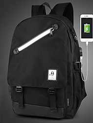cheap -Unisex Bags Oxford Cloth Backpack Zipper Black / Gray