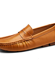 cheap -Men's Shoes Leatherette Spring Fall Comfort Loafers & Slip-Ons For Casual Party & Evening Blue Brown Black White